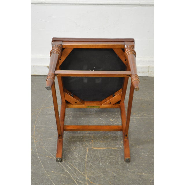 Ethan Allen Regency Style Counter Bar Stools - A Pair - Image 7 of 11