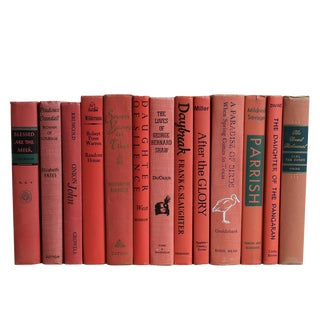 Midcentury Salmon Book Set, S/13 For Sale