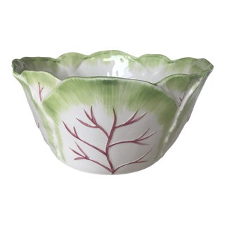 1980s Ceramic Cabbage Bowl For Sale