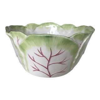 1980s Ceramic Cabbage Bowl For Sale