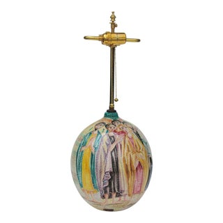 Marcel Fantoni Lamp With Great Figural Decoration