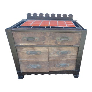 Monterey Classic Prohibition Bar Base With Catalina Island Tiles For Sale