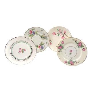 Vintage Mismatched China Dessert Plates - Set of 4