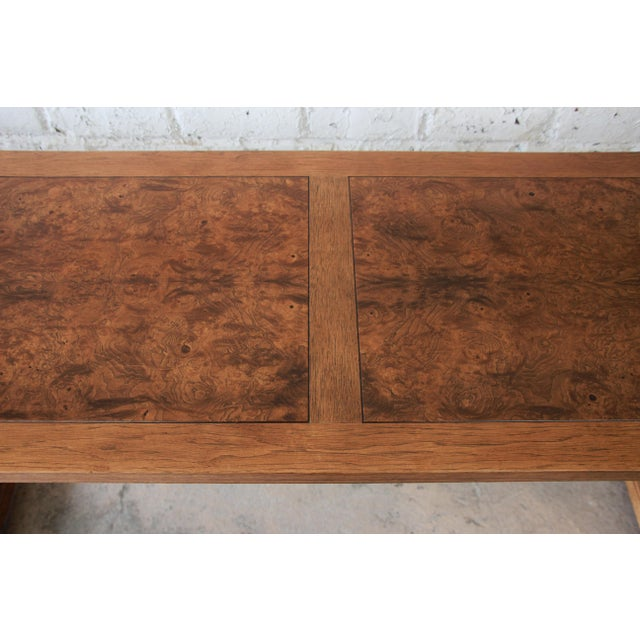Beautiful Burled Altar Table by Baker For Sale - Image 10 of 11