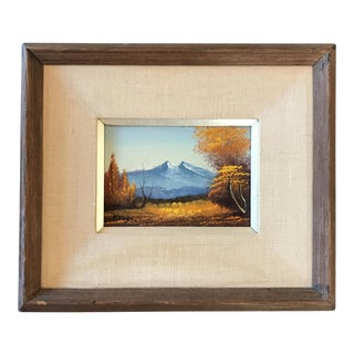 Vintage Landscape Mountain Painting Signed For Sale
