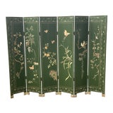 Image of Early 20th Century Double-Sided 6 Panel Japanese Screen For Sale