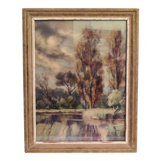"""Fall's Reflection"" Acrylic Painting"