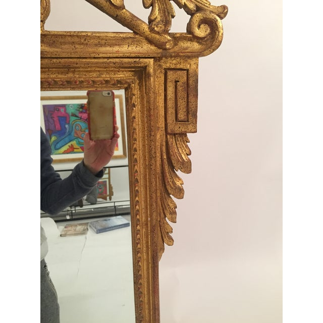 Neoclassical Gold Leaf Mirror - Image 10 of 11