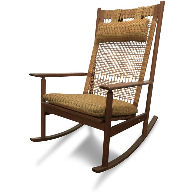 Mid-Century Modern Mid-Century Modern Hans Olsen for Dux Rocking Chair For Sale - Image 3 of 6