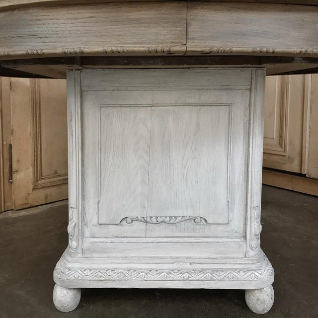 19th Century French Louis XVI Painted Pedestal Table For Sale - Image 12 of 13