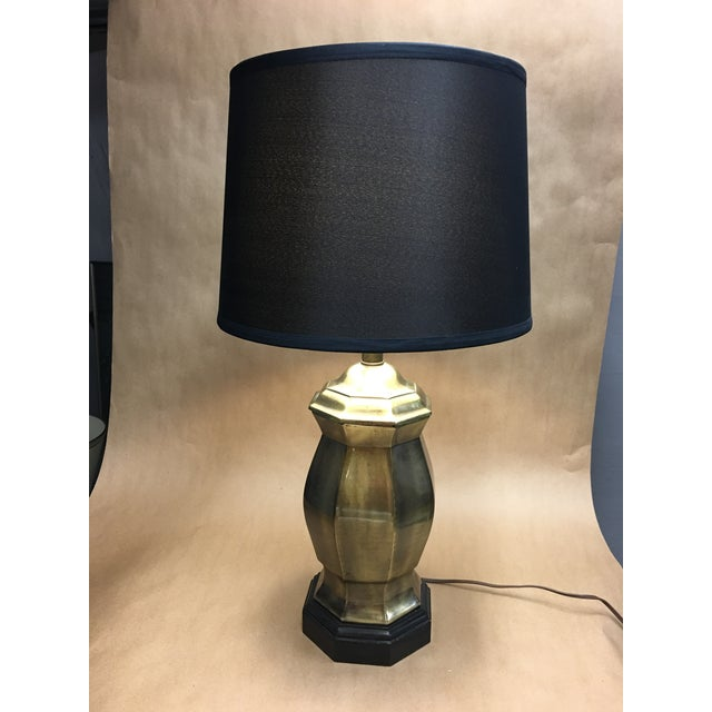 Traditional 1950s Frederick Cooper Brass Ginger Jar Table Lamp For Sale - Image 3 of 8