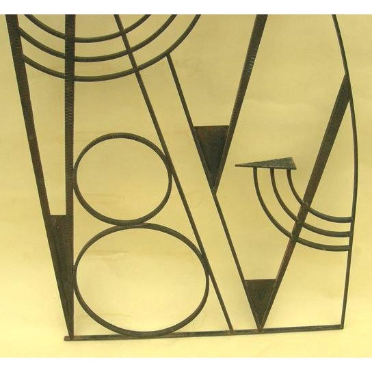 Art Deco Hammered Iron Screen - Image 2 of 7