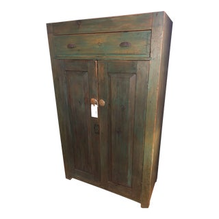 19th Century Green Cabinet For Sale