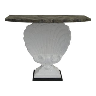 Vintage Grosfeld House Clam Shell Console Table For Sale