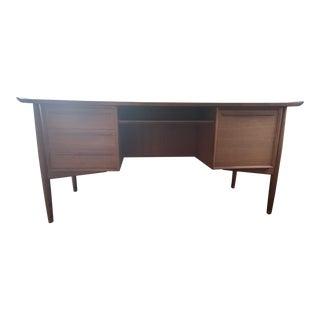 Vintage Danish Modern H. P. Hansen Teak Desk For Sale