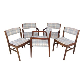 Risom Marble Armchairs and Side Chairs -Set of Five