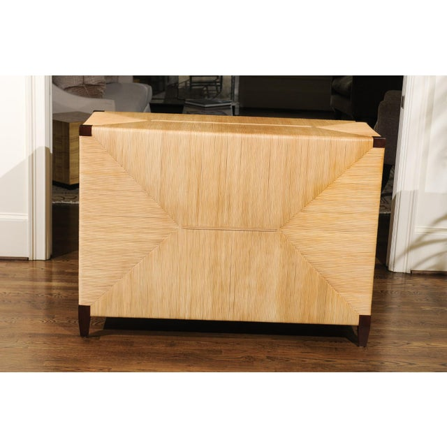 Gorgeous Mahogany and Wicker Commode by John Hutton for Donghia, Circa 1995 For Sale - Image 9 of 13