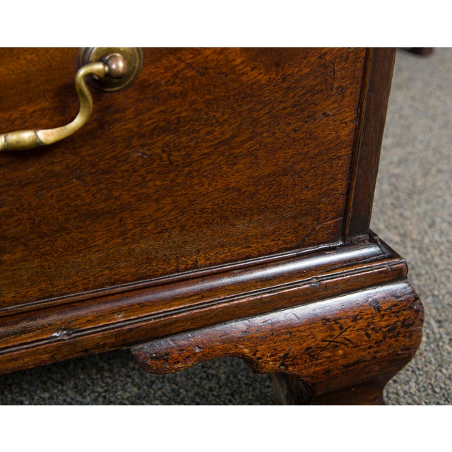Brown English Mahogany Antique Chest With Brush Slide Circa 1880 For Sale - Image 8 of 11