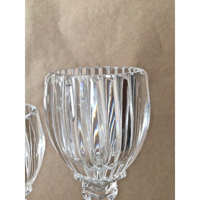 Vintage Crystal Candle Holders - Set of 3 For Sale - Image 5 of 7