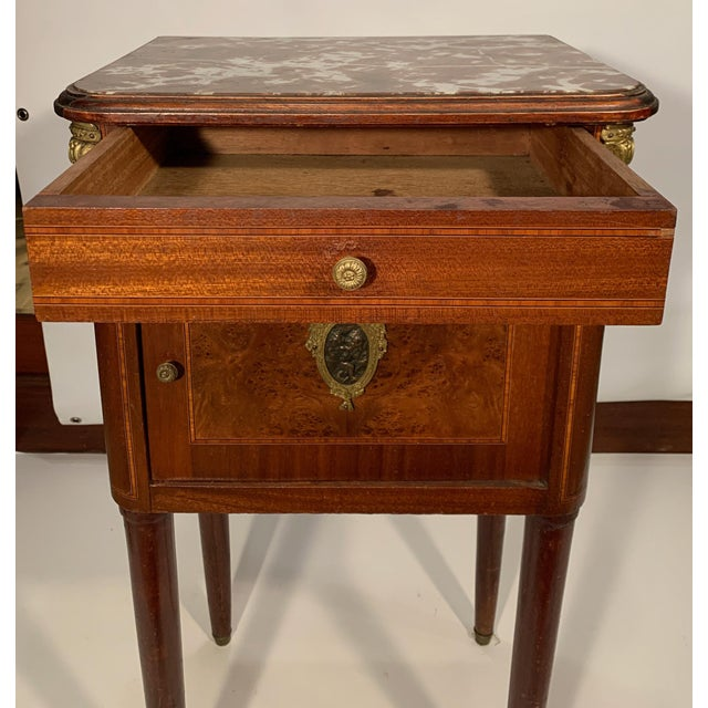 French Antique French Bedside Cabinet For Sale - Image 3 of 9