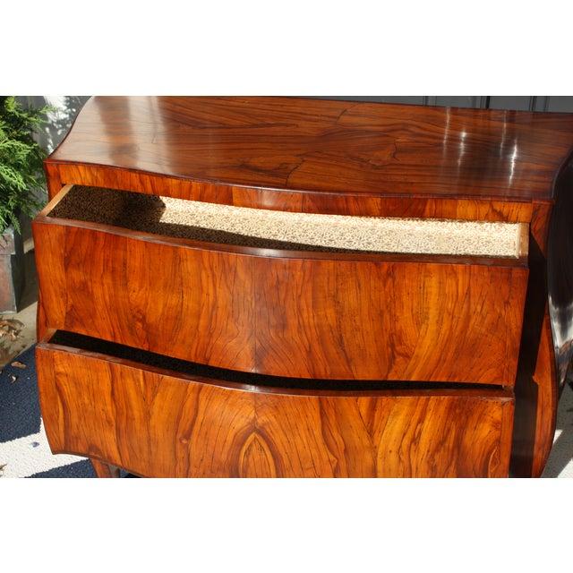Mid-Century Italian Olive Wood Commode - Image 8 of 11