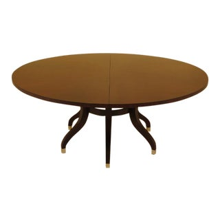 Ethan Allen Modern Round Mahogany Dining Room Table