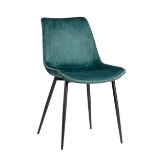 Andrea Velvet Dining Chair For Sale