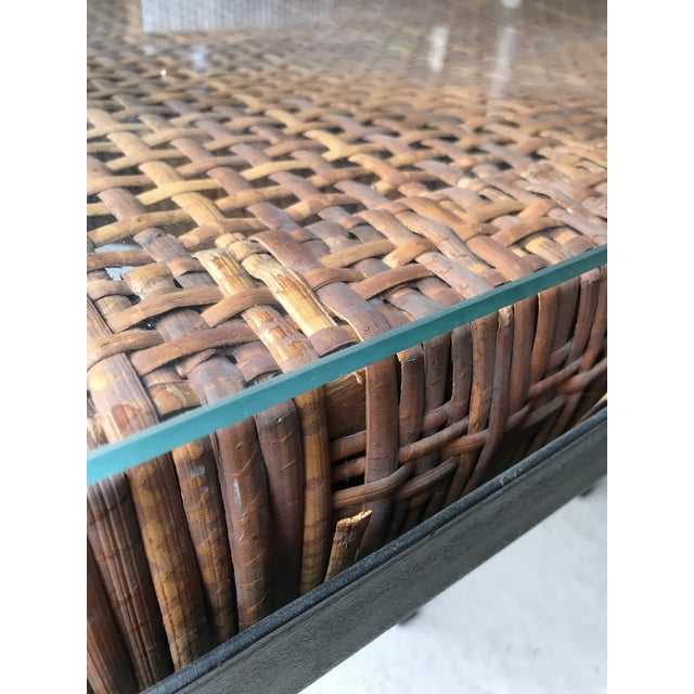 Mid-Century Modern Danny Ho Fong Iron and Reed Dining Table With Six Stools for Tropi-Cal For Sale - Image 3 of 13