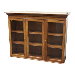 Henkel Harris Solid Wild Black Cherry Chippendale Hutch (Top Only) For Sale