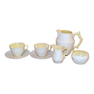 1955-1965 Belleek Tea Set - 7 Piece Set For Sale