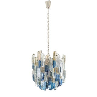 Large J.T. Kalmar Multi-Colored Glass Chandelier, 1970s