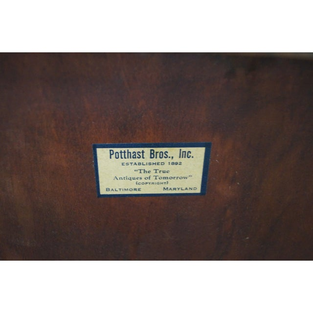 Potthast Solid Mahogany Inlaid Chippendale Chest - Image 10 of 10