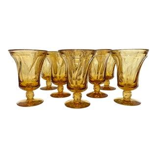 Fostoria Light Amber Parfaits - Set of 8 For Sale