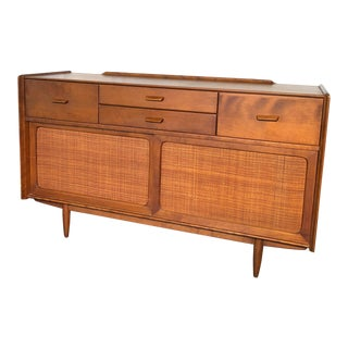 Conant Ball Birch Wood Sideboard With Cane Doors For Sale