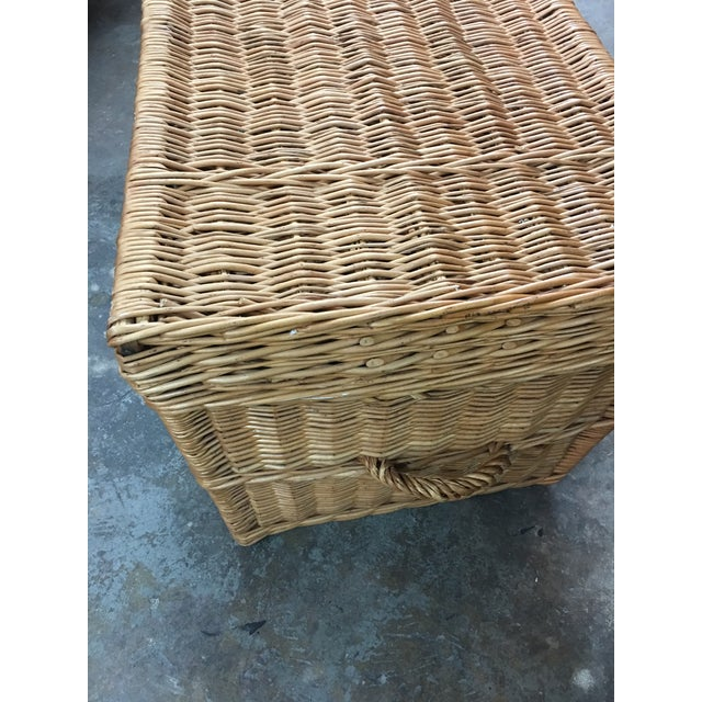 French Wicker Trunk For Sale In Miami - Image 6 of 7