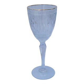 Marquis by Waterford Wine Glass With Gold Rim For Sale