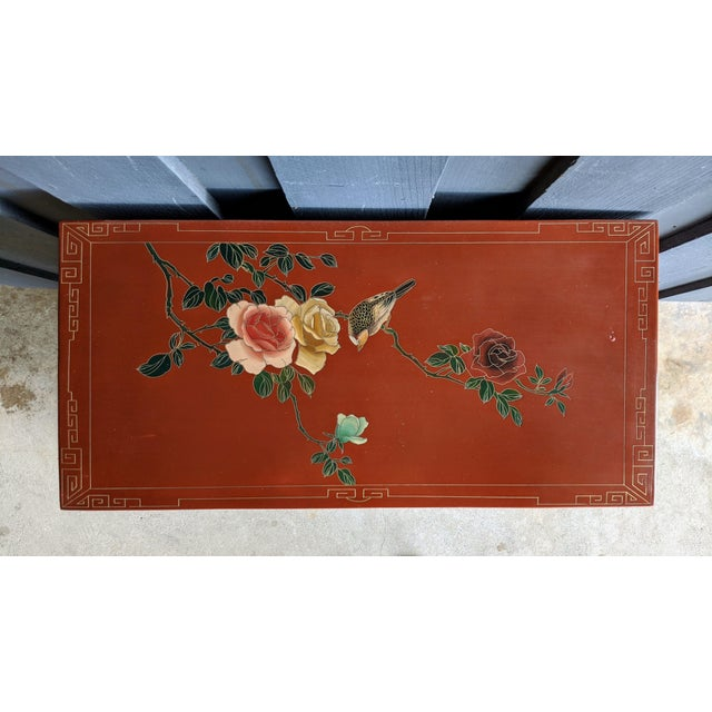 1960s Hand-Painted Chinoiserie Cabinet / Night Stand For Sale - Image 10 of 13