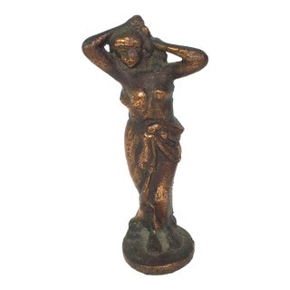 Late 19th Century Antique Bronze Nude Statuette For Sale