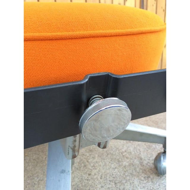 Vintage SteelCase Orange Office Chair - Image 6 of 8