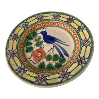 Old Puebla Pottery *Blue Bird* Plate For Sale