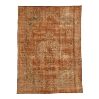 Vintage Turkish Rug With Rustic Mid-Century Modern Style - 09'05 X 12'09 For Sale