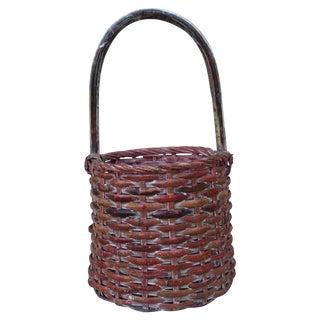 Vintage Rustic Bamboo Basket