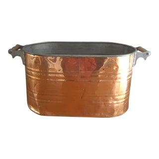 Vintage English Copper Firewood Bin
