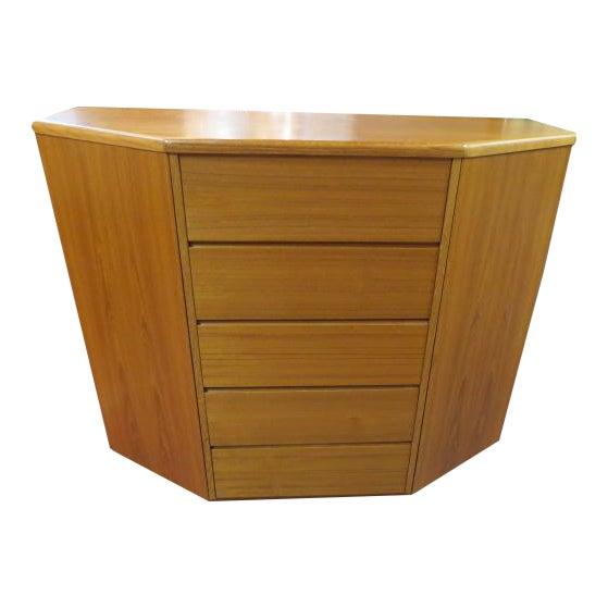 Image of 1960s Danish Modern Teak Cabinet/Chest/Dresser