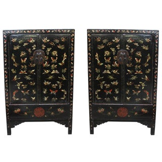 18th Century Chinese Butterfly Cabinets For Sale