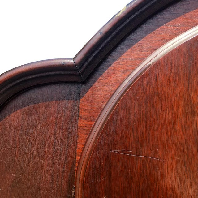 1910s Exceptional Antique Victorian Carved Mahogany China Curio Bookcase Cabinet For Sale - Image 5 of 11