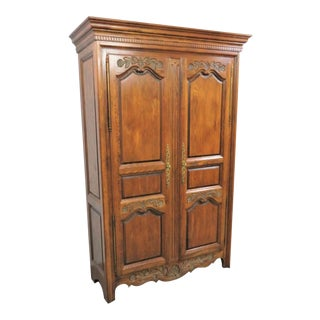 Hickory Country French Oak Linen Press For Sale