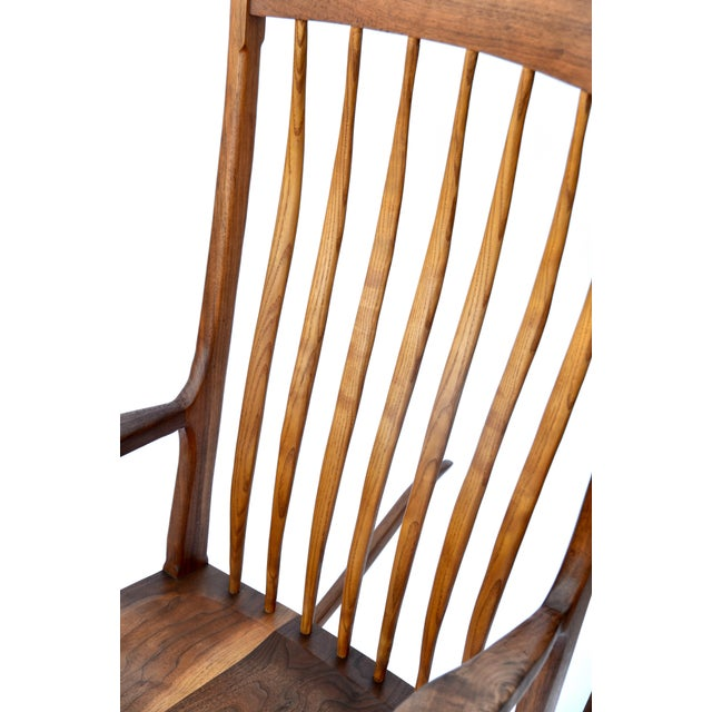 Hand-Crafted Wooden Rocking Chair For Sale In Los Angeles - Image 6 of 9