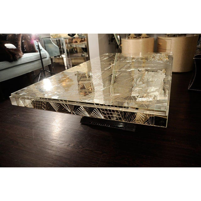 Mid 20th Century French Art Deco Style Mirrored Table For Sale - Image 5 of 10