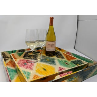 Hand Painted Nested Trays - Set of Two (2) Preview
